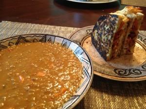 lentil soup & panini