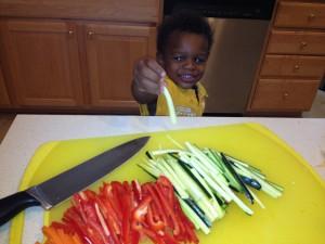 Eli loves veggies