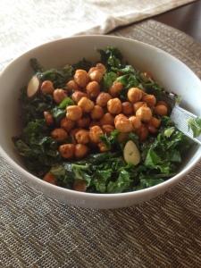 kale salad chickpeas