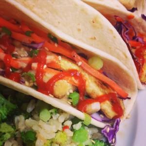 Sesame Tofu Tacos